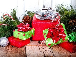 pine, twig, decoration, gifts