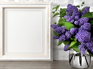 frame, bouquet, without
